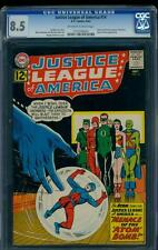 Justice League of America 14 CGC 8.5 OW/W Silver Age Key DC Comic Atom IGKC L@@K