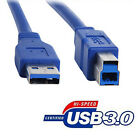 New Premium Blue USB 3.0 A Male to B Male Cable Cord SuperSpeed Cables Lot