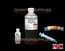 250g MOULDCRAFT TRANSPARENT BLACK CASTING RESIN KIT / WATER CLEAR COLOURED RESIN