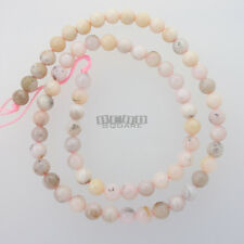"15.8"" Natural Pink Peruvian Opal Round Beads approx. 6mm (6 - 6.4mm) #20158"