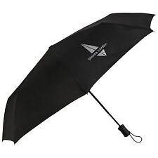 Pierre Cardin automatique ouvert court poignée logo argenté gents parapluie en noir