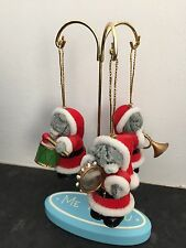 EXTREMELY RARE 3 ME TO YOU BEAR XMAS TREE HANGING DECORATIONS - BAND ON STAND