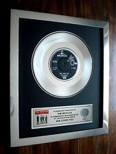 THE BEATLES SHE LOVES YOU PLATINUM DISC RECORD DISC SINGLE AWARD