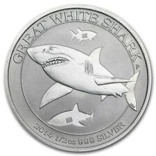 1/2 once argent grand requin blanc Australie 2014 1/2 oz .999 Great white shark