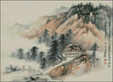 """Goldmilky cross stitch kit """"Chinese Moutain with Pine Woods"""" 18 x13 inch (a30)"""