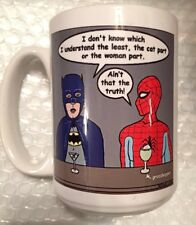 Batman Spider-Man - Catwoman - Don't Understand Women Mug - Orca Coatings - Exc