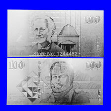BANKNOTE OLD AUD $100 AUSTRALIAN DOLLAR REPLICA SILVER HIGH QUALITY!