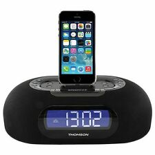 Thomson Clock Radio with Lightning Dock USB Charge port and Dual Alarm ID35