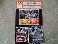CARTE FICHE CINEMA 1944 DAYS OF GLORY Tamara Toumanova Gregory Peck