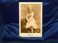 Beautiful Actress Singer Lillian Russell Cabinet Card Photograph 1894 Vintage