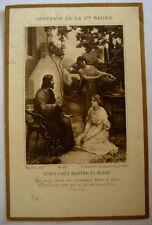 CANIVET/ IMAGE PIEUSE * SAINTE BAUME * JESUS CHEZ MARTHE ET MARIE 120x78 mm