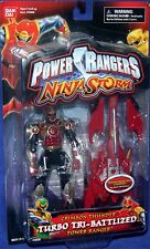 """Power Rangers Ninja Storm 5"""" Crimson Thunder Turbo Tri-Battlize Ranger New 2003"""