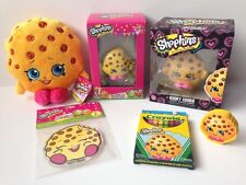 New Shopkins Kooky Cookie Big Fan 6Pc Lot Plush Vinyl Ornament Cling Easter Gift