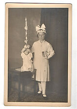 1932--REAL PHOTO POST CARD--YOUNG GIRL--CONFIRMATION?--UNUSED--XLNT
