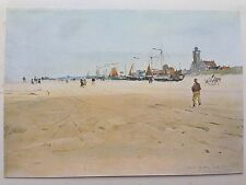 ORIGINAL 1902 'THE STUDIO' WATER-COLOUR PRINT ' KATWIJK AAN ZEE ' BY C. WATSON