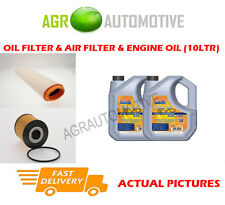 DIESEL OIL AIR FILTER KIT + LL 5W30 OIL FOR BMW 530D 3.0 184 BHP 1998-00