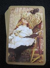 VINTAGE 1990's PACK of PLAYING CARDS - PORTRAIT of EDWARDIAN GIRL & KITTEN