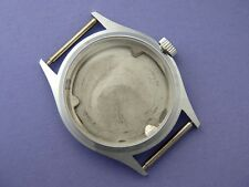 NEW watch CASE for MEN wristwatch manual mechanical movement NOS STEEL SS no.2