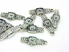 10 Pcs - Tibetan Silver Watch Charms 3D Wristwatch Jewellery Pendant N177