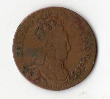 RARE MONNAIE ROYALE : LIARD DE FRANCE DE LOUIS XIIII DE 1657 B @ BELLE QUALITE !