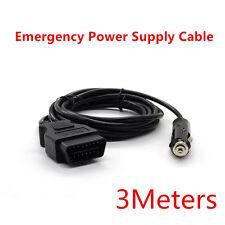Universal OBD2 Automotive ECU Emergency Power Supply Cable Memory Saver Black