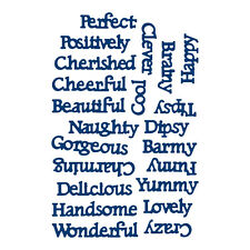 STEPHANIE WEIGHTMAN Tattered Lace INTRICATE Dies CHARACTER SENTIMENTS D0616