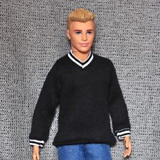 Barbie Doll Fashion Clothes Black Sweater For KEN Dolls