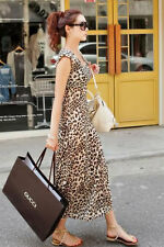 Boldgal Maxi Party Fashion Sexy Western Women Leopard Printed Dress