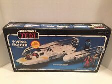 VINTAGE STAR WARS ROTJ Y-WING FIGHTER 1983 W/ Box, Inserts, UNUSED DECAL SHEET!