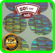 108 hologram labels, warranty seals, stickers, tamper evident round 25mm