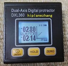 Mini Dual Axis Digital Protractor Inclinometer Angle Meter Li-Battery