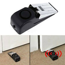 New Wedge-shaped Wireless Door Stop Alarm Home Security System Vibration 120DB