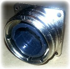 Connector, Receptacle, Flange, Square, 28-22M, Metal-Shell CPC (New)