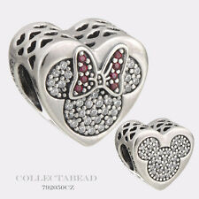 Authentic Pandora Silver Mickey and Minnie True Love CZ Bead 792050CZ