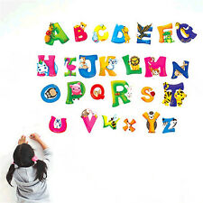 26Animals Alphabet Wall decal Removable stickers educational decor kids nursrSM