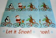 """CHRISTMAS Placemats 18"""" x 13"""" LET IT SNOW  Set of 4"""