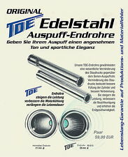 original TDE Edelstahl-Endrohrsatz Theo Decker Essen 28mm für VW Käfer + Karmann