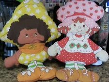 Large Vintage 80s Strawberry Shortcake and Orange Blossom Pillow Dolls