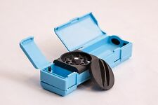 Exclusive blue combie = herb grinder+mixing bowl+papers+filter+storage,5in