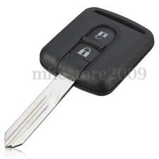 2 BUTTON REMOTE KEY CASE SHELL FOB FOR NISSAN NAVARA MICRA K12 NOTE UNCUT BLADE