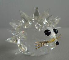 Funkelnde Swarovski Glas Figur Igel GLASFIGUR DESIGN