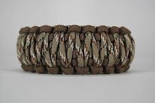 550 Paracord Survival Bracelet King Cobra Dark Brown/Desert Camo Camping
