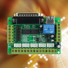 CNC 5 Axis Interface Breakout Board For Stepper Motor Driver CNC Mill MACH3 BY