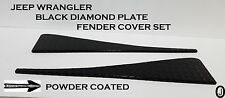 JEEP wrangler YJ Black Diamond Plate powder coated Fender Covers With Bend set 2