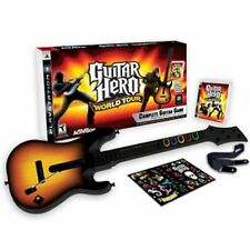 Sony PS3 Guitar Hero WORLD TOUR Guitar Kit Bundle Set game disc instrument 3 WT