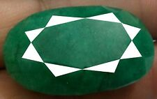 GREEN EMERALD + CERTIFIED FACETED OVAL 67.27 CT 100% NATURAL ULTRA HUGE GEMSTONE