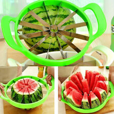 Fruit Watermelon Melon Cantaloupe Stainless Steel Cutter Slicer Kitchen Tool OY