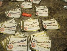 lot of 100  unused  HAUENSTEIN strong + bonus  10 neck labels  new ulm MN 12oz
