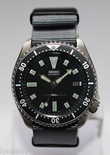 SEIKO 7002-7001 Vintage Diver Bond Watch Classic Dial Automatic Charcoal Grey