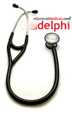 DELPHI CARDIOLOGY III STETHOSCOPE ct 3M LITTMANN MEDICAL, EMT BLACK NEW 3134